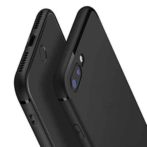 BYOBCREW iphone 7 Plus Case Perfect Slim Fit Ultra Thin Protection Series TPU Black