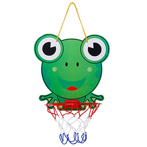 MONOMONO-New Kids Mini Hanging Basketball Hoop Net Set Children Indoor Sports Game Toys (frog)