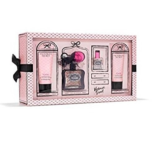 Edp 4 Piece Set (Victoria's Secret Tease Noir 4 Piece Gift Set 3.4 and 1.7 Oz EDP Spray and 3.4 Oz Body Wash and)