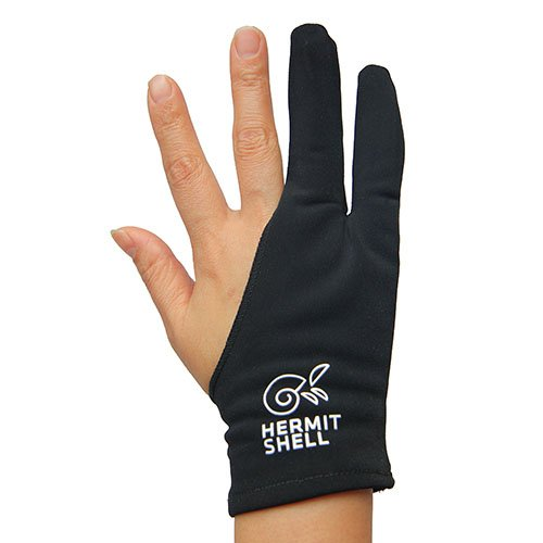 Unyield Palm Rejection Artist Glove for Graphics Tablets Pad Free Size Good for Right or Left Hand (1 Unit, Thin) by