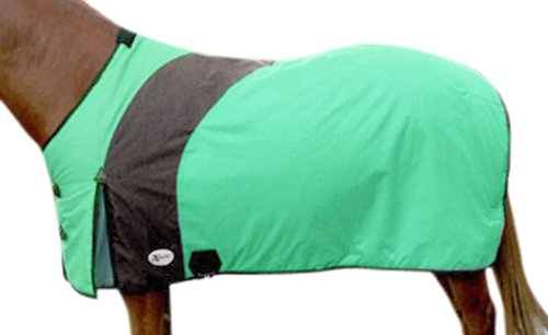 Intrepid International Prima Medium Weight Turnout Blanket, 74-Inch, Emerald (Turnout Medium Weight)