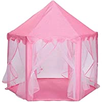 Cute Baby Kids Play Tent Portable Folding Princess Castle Tent Children Funny Play Fairy House- PINK