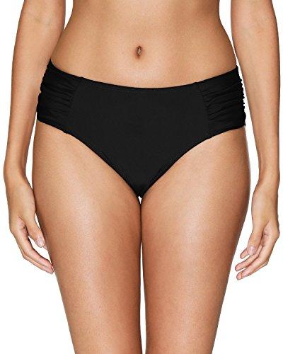 Sociala Womens Bikini Bottoms Black Swimsuit Bottoms Retro Swim Briefs - Bottom Swimsuit