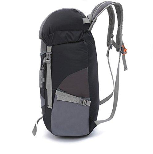 Hombres Y Mujeres Alpinismo Mochila Ultra Ligero Plegable Viajar , gray gray