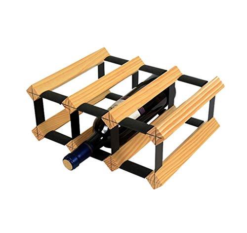(Waitousanqi 2-Layer Wine Rack 6 Bottles of Solid Wood Wine Bottle Rack Wine Rack Storage Rack / L32.2cm × W23.5cm × H13.2cm q45)
