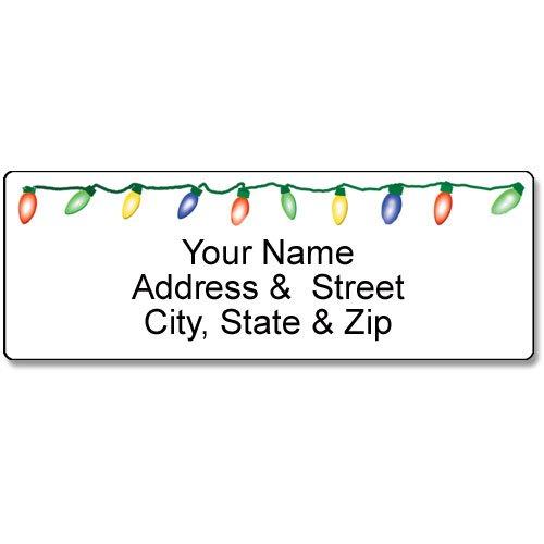 Holiday Lights Address Label - Christmas Customized Return Address Label - 90 Labels