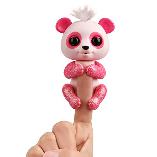 WowWee Fingerlings Glitter Panda - Polly - Interactive Collectible Baby Pet, Pink by WowWee (Image #1)