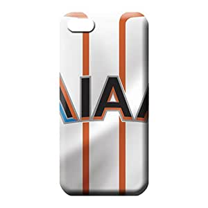 iphone 5c covers dirt-proof Scratch-proof Protection Cases Covers mobile phone skins miami marlins mlb baseball