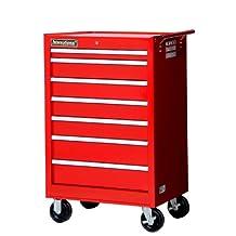 International VRB-2742RD 27-Inch 7 Drawer Red Cabinet