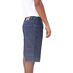 Oscar Mens Jeans Big and Tall Regular Classic Fit Denim Jeans Short (42, Blue Indigo)