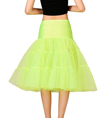 Noriviiq - Enaguas cortas - para mujer Verde amarillo X-Large