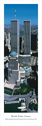 World Trade Center - The Two Towers - Blakeway Panoramas Unframed Icon Posters (Icon Unframed)