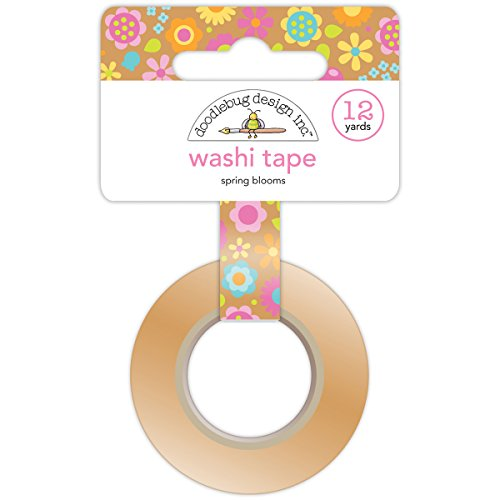 Doodlebug Washi Tape, 15mm by 12-Yard, Spring Blooms