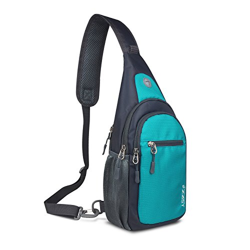 ZZSY Sling Backpack, Shoulder Chest Crossbody Bag Small Daypack for Outdoor Hiking Men & Women ()