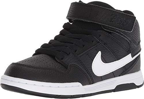 NIKE Kids Mogan MID 2 JR B Black White Size 5 by NIKE