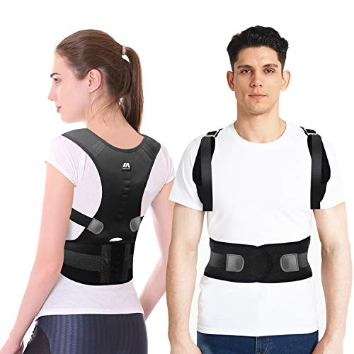 maysuwell Back Brace Posture Corrector |Fully Adjustable Support Brace for Men and Women|Improves Posture and Provides Lumbar Back Brace| Lower and Upper Back Pain Relief (M)