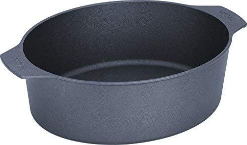 Woll Diamond Lite Plus Diamond Reinforced Nonstick Scratch Resistant Cast Aluminum Cookware Oval Roaster with Lid, 6.3-Quart