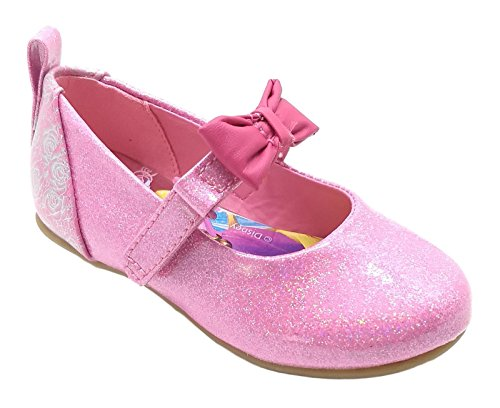 Princess Disney Toddler Girls Glitter Pink Dress Shoes (11 M US Toddler/Youth) ()