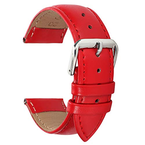 Genuine 12mm Leather Watch Band Red Leather Watch Band Replacement Red 12mm Womens Watch Strap Braclet