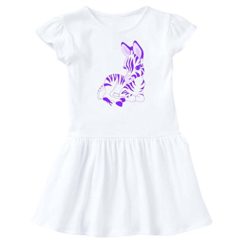 inktastic Purple Zebra Infant Dress 6 Months White e6eb (Zebra Dress Purple)