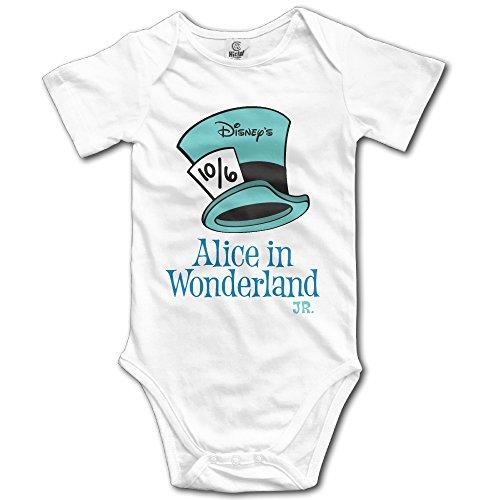 [Baby Onesie Alice In Wonderland Jnr Short Sleeve Outfit Bodysuit] (Wonderland Outfit)