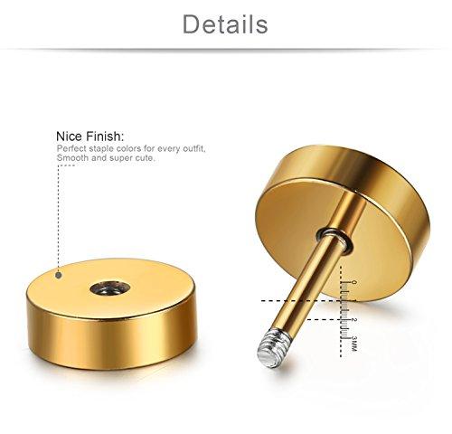 Buy faux gauge earrings 7mm