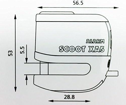 Yamaha Xv1900 Midnight Star Oxford SCOOT XA5 Alarm Disc Lock Bike Yellow LK287