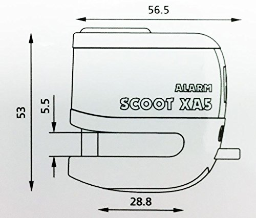 PIAGGIO VESPA PRIMAVERA 125 Oxford SCOOT XA5 Alarm Disc Lock Bike Yellow LK287