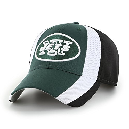 OTS NFL New York Jets Adult Select All-Star MVP Adjustable Hat, One Size, Black -