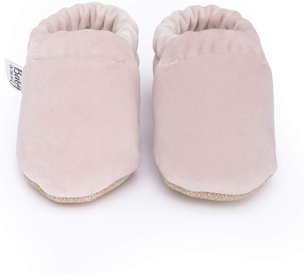 Baby On The Go First Steps Slip-On Baby Slipper, Pink Velvet