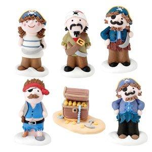Piraten Schatztruhe Zucker Kuchen Topper 6 Stuck Set Amazon De