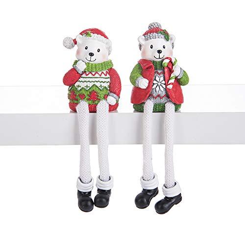 Ganz North Pole Friends Shelf Sitters Polar Bears Set of 2 Assorted