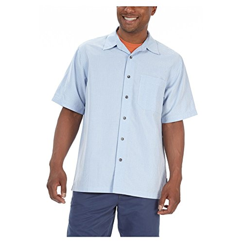 Royal Robbins Men's Desert Pucker Short Sleeve Shirt, Sky, Small (Shirt Desert S/s Pucker)