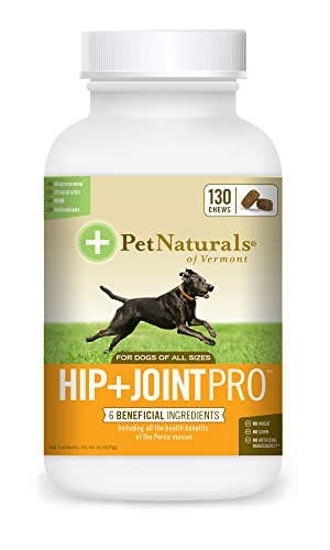 (Pet Naturals of Vermont - Hip + Joint PRO, Daily Hip and Joint Supplement for Large Dogs, 130 Bite-Sized Chews)