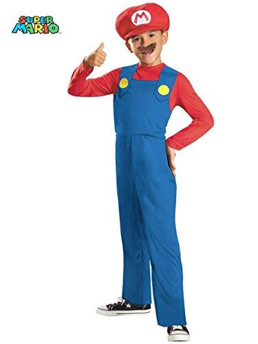 [Super Mario Brothers, Mario Costume, Medium] (Kid Costumes Halloween)