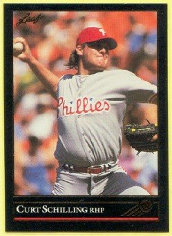 1992 Leaf 516 Black Gold Curt Schilling Phillies Baseball Card Curt Schilling Phillies
