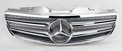 - CPW (tm R230 03-06 Mercedes SL-Class Roadster Silver Chrome 2 Fin Sport Front Grille with Center Star for SL500 SL600 SL55 AMG (Non DISTRONIC ONLY)