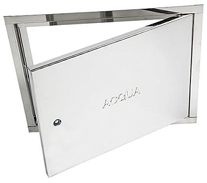 Puerta para contador de agua, galvanizada, de 40 x 30 x 2 cm