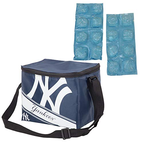 (Forever Collectible/Igoo Official Major League Baseball Fan Shop Authentic MLB Collapsible Insulated Lunch Bag (New York Yankees))