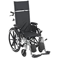 Drive Medical Viper Plus Light Weight Reclining Wheelchair with Elevating Legrest and Various Flip B