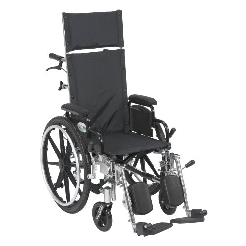 Viper Plus Light Weight Reclining Wheelchair with Elevating Leg Rests and Flip Back Detachable Arms, 14
