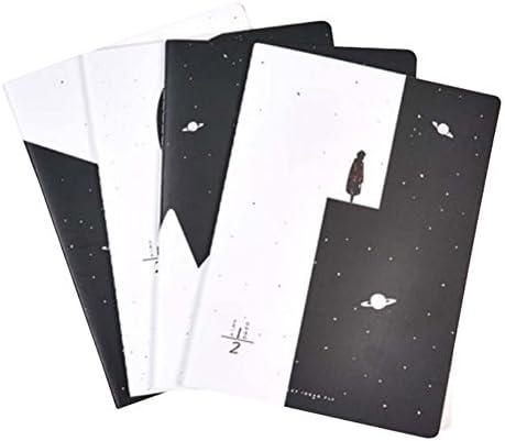 4 Stück Student Lab Notebook Klassisches Notizbuch Tagebuch Notebook Notizbuch Soft Cover Notebook