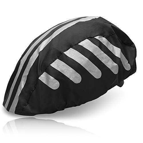 HINRI Scheurvaste afdekking voor fietshelm, 100% waterdicht, met reflectoren, elastische regenkap, geschikt voor elke…