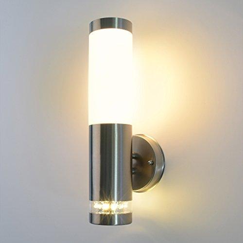 Großartig Aussenleuchte Aussenlampe Wandleuchte Wandlampe Edelstahl E27  TB28