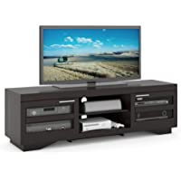 Sonax B-007-RGT Granville 66-Inch Wood Veneer TV Bench, Mocha black