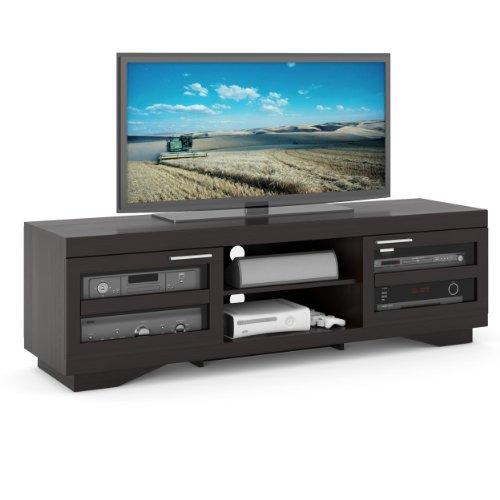 Sonax B-007-RGT Granville 66-Inch Wood Veneer TV Bench, Mocha - Tv Inch 66