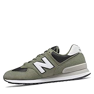 New Balance Men's 574 V2 Essential Sneaker, Mineral Green/Outerspace, 18 M US