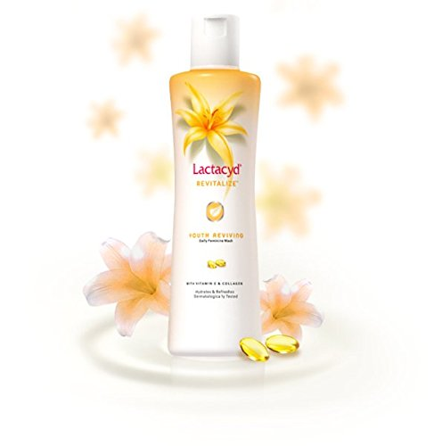 Lactacyd Revitalize Youth Reviving Daily Feminine Wash with Vitamin E and Collagen 150 Ml., pack 2