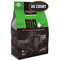 Majesty's Biotin Wafers - Superior Horse / Equine Hoof and Coat Support Supplement - Copper, Zinc, Lysine, Methionine - 30 Count (1 Month Supply)
