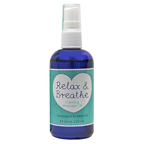 Natural Birthing Company Relax and Breathe Calming Pregnancy Massage Oil 100ml With Arnica, Chamomile - Pregnancy Massage Oil - Pregnancy Calming Lotion - Massage Oil for Pregnancy